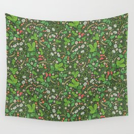 Wild strawberries and chamomile with rye spike Wall Tapestry