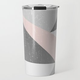 Grunge Geometric Retro Pattern Travel Mug