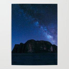 Milky Way Over Wadi Rum Poster
