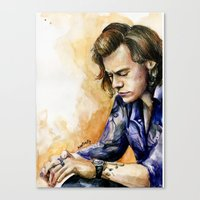 harry Canvas Prints featuring HARRY by Seefirefly