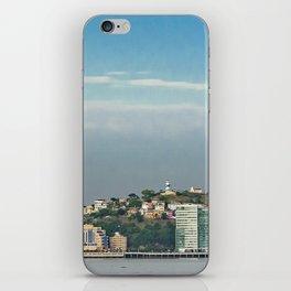 Guayaquil Panoramic Cityscape Skiline, Ecuador iPhone Skin