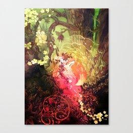 Dawnsing Wood Fox Kitsune Canvas Print