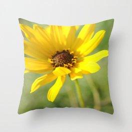 Summer Yellow Throw Pillow