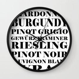 Wine Celebration - White Wall Clock