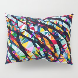 Wavy Lines Low Poly Geometric Triangles Pillow Sham