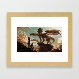 Hellkite Monarch Framed Art Print