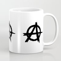 anarchy Mugs featuring Anarchy by Poppo Inc.