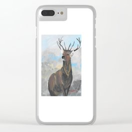 Whitetail Buck Clear iPhone Case