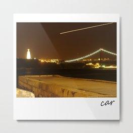 Lisboa a noite Metal Print