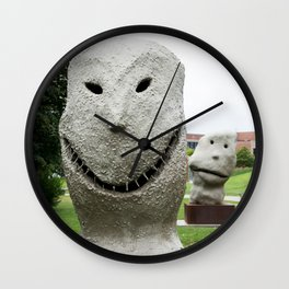 Moonrise at Pappajohn Sculpture Park Wall Clock