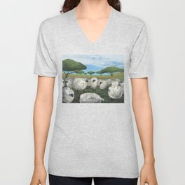 greener pasture Unisex V-Neck