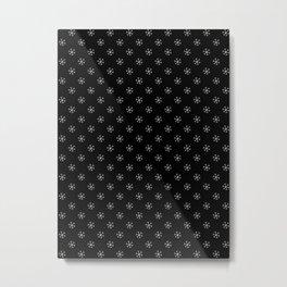 Gray on Black Snowflakes Metal Print