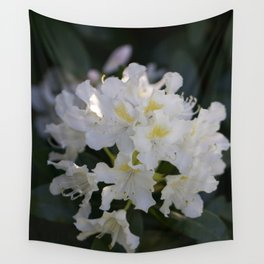White Rhododendron Wall Tapestry