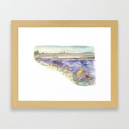 Mussel Hunters Framed Art Print