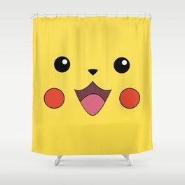 Pika Chu Face Shower Curtain