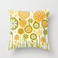 sunshine Throw Pillows featuring Sunshine by Shelly Bremmer