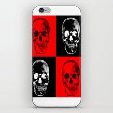 Red/Black SKULL iPhone & iPod Skin