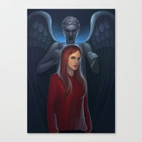 amy pond Canvas Prints featuring Dr Who- Amy Pond by ElaineTeh