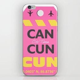 CANCUN CUN airport tag sticker design iPhone Skin