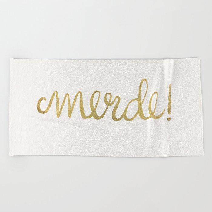 Pardon My French – Gold Ink Beach Towel
