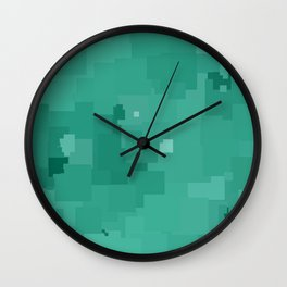 Lucite Green Square Pixel Color Accent Wall Clock