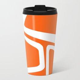 Mid Century In Burnt Orange Travel Mug