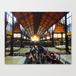 The Great Market Hall, Budapest. Canvas Print