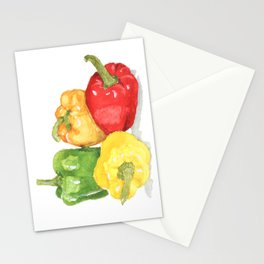 Bell Peppers Stationery Cards