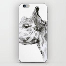 giraffe portrait iPhone Skin