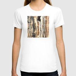 Creamy Caramel and Chocolate Fudge Marble Pattern T-shirt