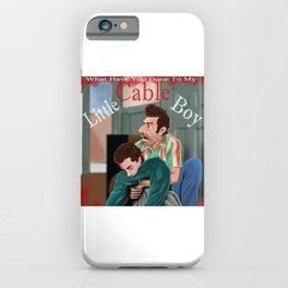 Little Cable Boy iPhone Case