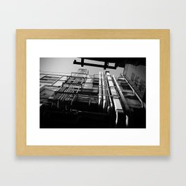 On japanese street Framed Art Print