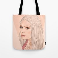 versace Tote Bags featuring Versace eyes by byfrana