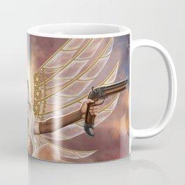 Steampunk Winged Pigtailed Heroine Coffee Mug
