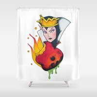 evil queen Shower Curtains featuring Evil Queen #1 by Jeef