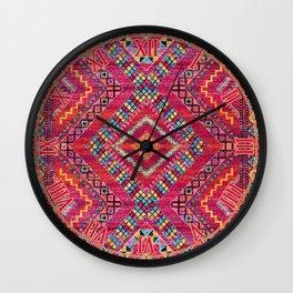 N118 - Pink Colored Oriental Traditional Bohemian Moroccan Artwork. Wall Clock