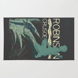 Books Collection: Robinson Crusoe Rug