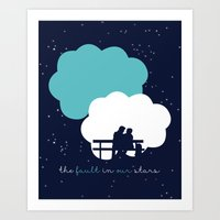 the fault in our stars Art Prints featuring The Fault In Our Stars by laurenschroer