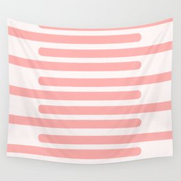 Pink Stripes With Spots Wall Tapestry