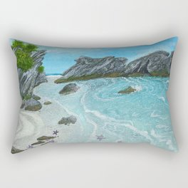 Seascape- 'Hidden Cove' Rectangular Pillow