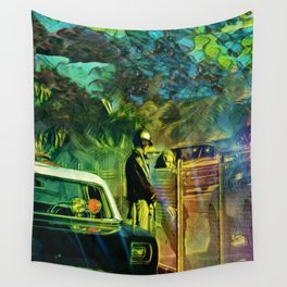 A Nightly Pull Over:The Casual Affair Wall Tapestry