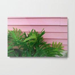 pink and fern Metal Print