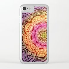 Colorful Mandala  Clear iPhone Case