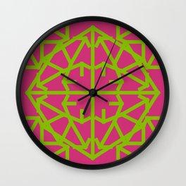 Diamond Bug Greenery - Pink Yarrow Wall Clock