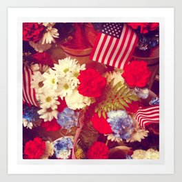 The Red, White, and Blue Art Print
