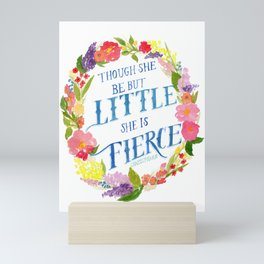 She is Little and Fierce  Mini Art Print
