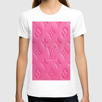 lv T-shirts featuring Pink LV by I Love Decor