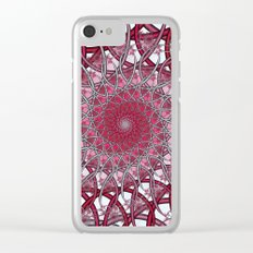 Spiraling infinity Clear iPhone Case