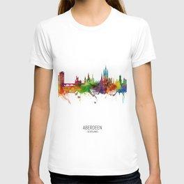 Aberdeen Scotland Skyline T-shirt