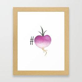 #Turnip Framed Art Print